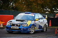 #68 Jade Paveley / Sarah Edwards Subaru Impreza NWCC / Rhyl DMC Group B Motorsportduring Neil Howard Memorial Stage Rally, and opening round of the 2015 Motorsport News Rally Championship.  at Oulton Park, Little Budworth, Cheshire, United Kingdom. November 07 2015. World Copyright Peter Taylor. Copy of publication required for printed pictures.  Every used picture is fee-liable. http://archive.petertaylor-photographic.co.uk