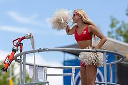 30.07.2013, Klagenfurt, Strandbad, AUT, A1 Beachvolleyball EM 2013, in photo Eskimo girl during the A1 Beachvolleyball European Championship at the Strandbad Klagenfurt, Austria on 20130730. (Photo by Matic Klansek Velej / Sportida)