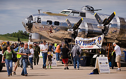 "The ""Yankee Lady"" a B-17 G bomber from World War II on display at the airshow at the new Branson Airport, in Branson, Mo. The Boeing B-17, is also known as the ""Flying Fortress."" The The Branson Airport, is the first privately financed and operated commercial service airport in the United States."