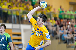 Jurecic Jan of RK Celje Pivovarna Lasko during handball match between RK Krka and RK Celje Pivovarna Lasko in the Final of Slovenian Men Handball Cup 2018, on April 22, 2018 in Sportna dvorana Ljutomer , Ljutomer, Slovenia. Photo by Mario Horvat / Sportida