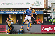 Carlisle No 24 Hallam Hope clears during the Sky Bet League 2 match between Cambridge United and Carlisle United at the R Costings Abbey Stadium, Cambridge, England on 16 April 2016. Photo by Nigel Cole.