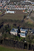 Nederland, Noord-Limburg, Gemeente Bergen, 07-03-2010; Kasteel Well, waterburcht. Nu in gebruik bij Emerson College (internationale school).luchtfoto (toeslag), aerial photo (additional fee required).foto/photo Siebe Swart