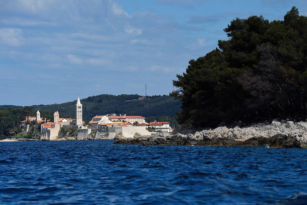 Rab town, Rab island, Velebit mountains Nature Park, Croatia