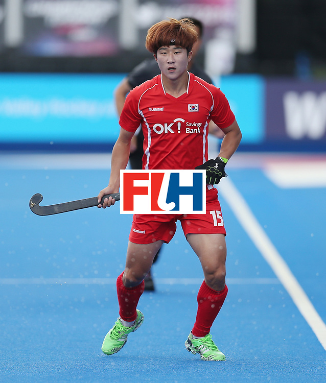 LONDON, ENGLAND - JUNE 16: Younchan Lee of Korea during the FIH Mens Hero Hockey Champions Trophy match between Korea and Germany at Queen Elizabeth Olympic Park on June 16, 2016 in London, England.  (Photo by Alex Morton/Getty Images)