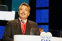 Fotball<br /> FIFA-kongressen i Marrakesch<br /> 12.09.2005<br /> Foto: imago/Digitalsport<br /> NORWAY ONLY<br /> <br /> Francisco Kalbualdi (Øst-Timor) Präsident des neu aufgenommenen Fußballverbandes von Ost Timor, hält im Rahmen des 55. FIFA Kongresses in Marrakesch eine Ansprache