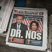 """New York Post Headlines """" Legion of Dems nix wall after Trump's prime-time plea"""" ...""""Dr. Nos"""" ...President Trump : A Crisis of Heart and Crisis Soul'"""