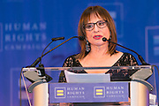 HRC's Greater NY Gala 2014 held at the Waldorf=Astoria in New York City on Saturday, February 8, 2014. (Photo: JeffreyHolmes.com) Patti LuPone accepting the HRC Ally for Equality Award at the