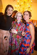 ROKSANDA ILINCIC; JULIE VERHOEVEN; VALERIA NAPOLEONE;   Valeria Napoleone hosts a dinner at her home in honour of Judith Hopf in cerebration of her new commission at Studio Voltaire. London. 15 October 2013