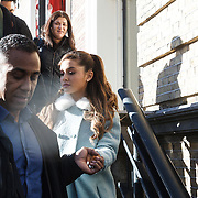 NLD/Amsterdam/20131110 - Ariana Grande leaving the hotel for the MTV EMA 2013