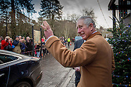The Prince of Wales in Tetbury - 22 Dec 2016