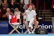 Tommy Haas between games during the Champions Tennis match at the Royal Albert Hall, London, United Kingdom on 6 December 2018. Picture by Ian Stephen.