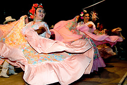 Cabo San Lucas, Mexico:  Beautifully costumed dancers entertain at Cascadas de Baja.
