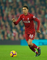 LIVERPOOL, ENGLAND - Wednesday, February 27, 2019: Liverpool's Trent Alexander-Arnold during the FA Premier League match between Liverpool FC and Watford FC at Anfield. (Pic by Paul Greenwood/Propaganda)