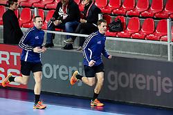 Gatelis Mindaugas and Mazeika Vaidas, EHF referees during handball match between National teams of Belarus and France on Day 4 in Preliminary Round of Men's EHF EURO 2018, on January 16, 2018 in Arena Zatika, Porec, Croatia. Photo by Morgan Kristan / Sportida