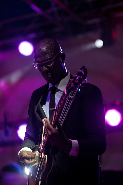 Guitarist DJ Williams performs in Karl Denson's Tiny Universe at Camp Euforia on Friday, July 17, 2015.