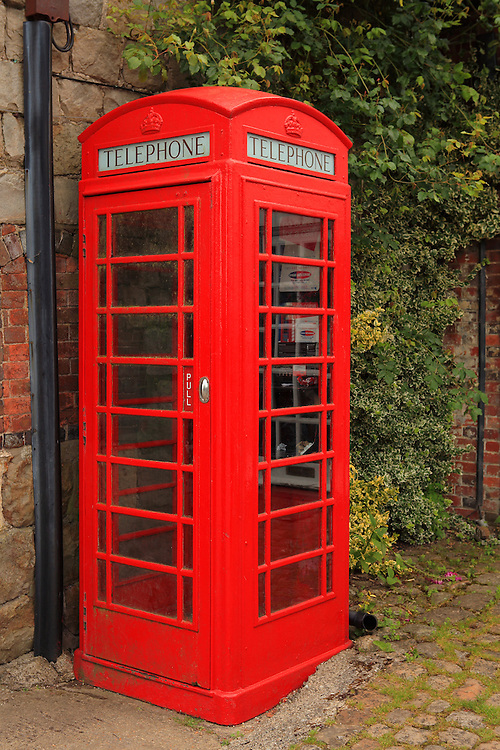 Red Telephone Booth - Avebury, UK