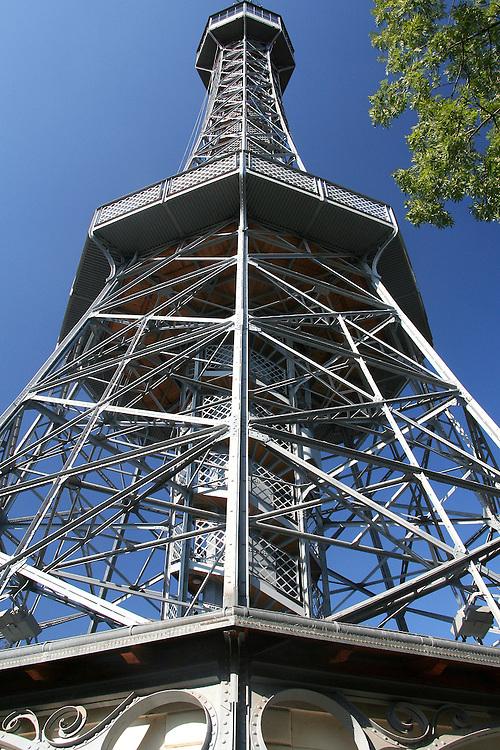 Petřín  Tower (Petřínská Rozhledna). Prague, Czech Republic