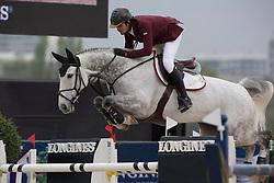 Al Ghazali Nasser, (QAT), Argelith Squid <br /> Grans Prix CSI 2*<br /> Longines Global Champions Tour - Antwerp 2015<br />  © Hippo Foto - Dirk Caremans<br /> 25/04/15