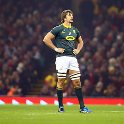 CARDIFF, WALES - NOVEMBER 24: Eben Etzebeth of South Africa is on as a sub during the Castle Lager Outgoing Tour match between Wales and South Africa at Principality Stadium on November 24, 2018 in Cardiff, Wales. (Photo by Steve Haag/Gallo Images)