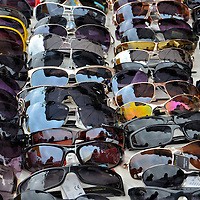 Sunglasses on Display at Outdoor Market in Fréjus, France