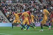 Mile Jedinak (Australia) is nearly through on the England goal during the Friendly International match match between England and Australia at the Stadium Of Light, Sunderland, England on 27 May 2016. Photo by Mark P Doherty.