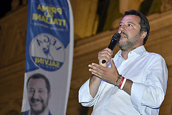 Italy, Turin - April 27, 2019.Italians First..Matteo Salvini, leader of Lega Nord party and Minister of Internal Affairs campaigning for the local candidates of the Northern League (Lega Nord) party (Credit Image: © Giordano/Fotogramma/Ropi via ZUMA Press)
