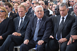 The State funeral ceremony Former Israeli President Shimon Peres at Mount Herzl, in Jerusalem, on September 30, 2016. Peres was hospitalized in the Sheba Medical Centre on September 13, 2016, after suffering a stroke, and passed 2 days ago at the age of 93. Photo by: Emil Salman - JINIPIX (Credit Image: © Emil Salman - Jinipix/Xinhua via ZUMA Wire)