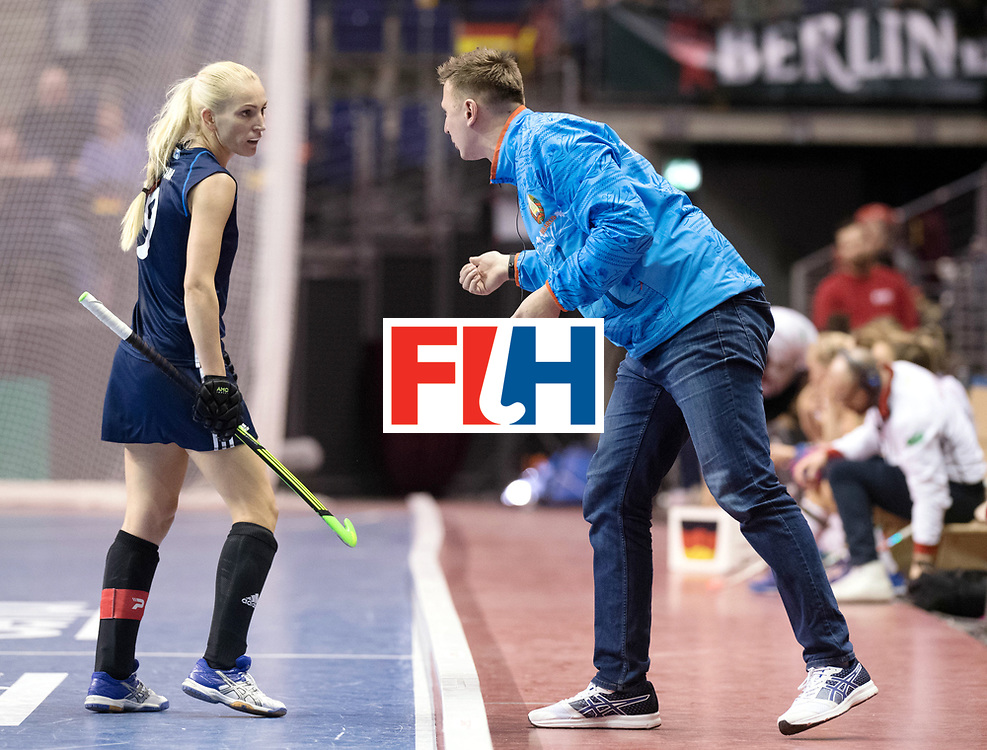 BERLIN - Indoor Hockey World Cup<br /> SF2 Belarus - Germany<br /> foto:Ryta Batura and NOVIK Vitali<br /> WORLDSPORTPICS COPYRIGHT FRANK UIJLENBROEK