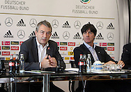 Former German Football Association president Wolfgang Niersbach (pictured left with Germany manager Joachim Low) is facing a two-year ban from all football-related activity.<br /> The independent ethics committee of world governing body Fifa recommended Niersbach be punished for a breach of its ethics code.<br /> In November, the 66-year-old resigned from his role as German FA president over bribery allegations.<br /> Picture by EXPA Pictures/Focus Images Ltd 07814482222<br /> 20/05/2016<br /> ***UK &amp; IRELAND ONLY***<br /> EXPA-EIB-131018-0004.jpg