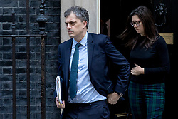 © Licensed to London News Pictures. 26/02/2019. London, UK. Conservative Chief Whip Julian Smith (L) leaves 10 Downing Street after the Cabinet meeting. Photo credit: Rob Pinney/LNP