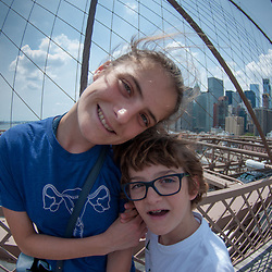 Eliza and Max, Brooklyn Bridge, New York, US