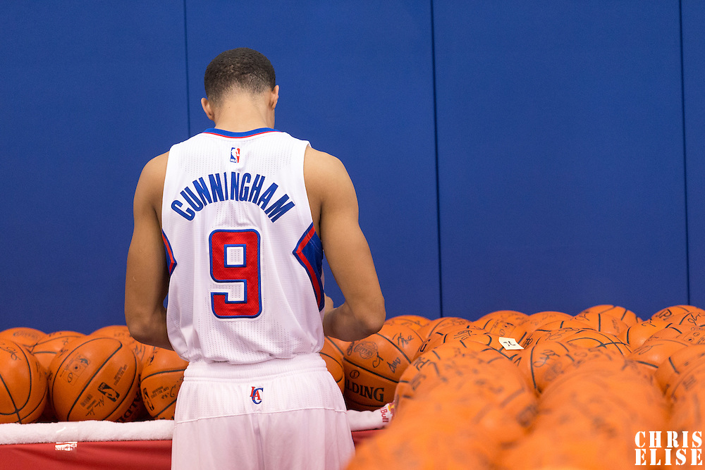 29 September 2014: Jared Cunningham is seen during the Los Angeles Clippers Media Day, at Los Angeles Clippers Training Facility, Playa Vista, California, USA.