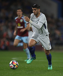 Alvaro Morata of Chelsea in action - Mandatory by-line: Jack Phillips/JMP - 19/04/2018 - FOOTBALL - Turf Moor - Burnley, England - Burnley v Chelsea - English Premier League