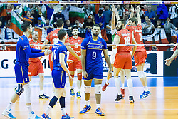 08.01.2016, Max Schmeling Halle, Berlin, GER, CEV Olympia Qualifikation, Frankreich vs Bulgarien, im Bild Earvin?Ngapeth (#9, Frankreich/France) nicht zufrieden mit seiner Leistung // during 2016 CEV Volleyball European Olympic Qualification Match between France and Bulgaria at the  Max Schmeling Halle in Berlin, Germany on 2016/01/08. EXPA Pictures © 2016, PhotoCredit: EXPA/ Eibner-Pressefoto/ Wuechner<br /> <br /> *****ATTENTION - OUT of GER*****