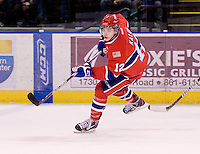 KELOWNA, CANADA, DECEMBER 27: Marek Kalus #12 of the Spokane Chiefs skates on the ice at the Kelowna Rockets on December 7, 2011 at Prospera Place in Kelowna, British Columbia, Canada (Photo by Marissa Baecker/Getty Images) *** Local Caption ***