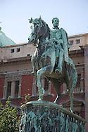 The Prince Mihhailo Monument in Republic Square, Belgrade, Serbia