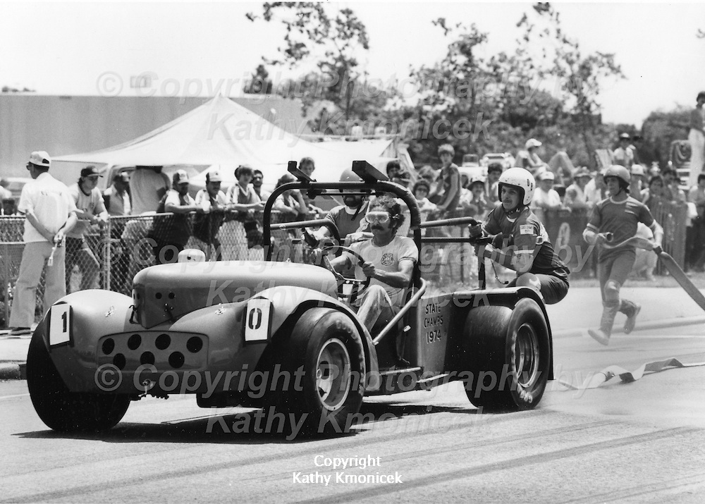 The Oyster Bay Fire Department Teddy's Boys Racing Team in action in July of 1982.