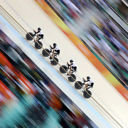 Track Cycling - Olympics: Day 6  Olivier Beer #146, Silvan Dillier #147, Thery Schir #149 and Cyrillee Thiery #150 of Team Switzerland in action in the Men's Team Pursuit Final during the track cycling competition at the Rio Olympic Velodrome August 12, 2016 in Rio de Janeiro, Brazil. (Photo by Tim Clayton/Corbis via Getty Images)