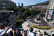 May 24-27, 2017: Monaco Grand Prix. Kimi Raikkonen (FIN), Scuderia Ferrari, SF70H leads the start of the Monaco Grand Prix with Sebastian Vettel, Bottas and Daniel Ricciardo behind