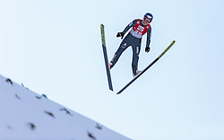 20.12.2015, Nordische Arena, Ramsau, AUT, FIS Weltcup Nordische Kombination, Skisprung, im Bild Tim Hug (SUI) // Tim Hug of Switzerland during Skijumping Qualification of FIS Nordic Combined World Cup, at the Nordic Arena in Ramsau, Austria on 2015/12/20. EXPA Pictures © 2015, PhotoCredit: EXPA/ JFK