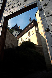 CZECH REPUBLIC BOHEMIA KARLSTEJN JUL96 - A part of the Bohemian castle Karlstejn seen through a portal. ..jre/Photo by Jiri Rezac.. © Jiri Rezac 1996. . Tel:   +44 (0) 7050 110 417. Email: jiri@jirirezac.com. Web:   www.jirirezac.com