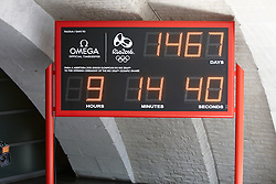 © Licensed to London News Pictures.  30/07/2012. LONDON, UK. A digital clock outside the Casa Brasil (Brazil House) shows the time remaining (1,467 days) until the Rio 2016 Olympic Games.  Photo credit :  Cliff Hide/LNP