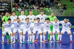 Kazakhstan team during futsal match between Russia and Kazakhstan in Third place match of UEFA Futsal EURO 2018, on February 10, 2018 in Arena Stozice, Ljubljana, Slovenia. Photo by Ziga Zupan / Sportida