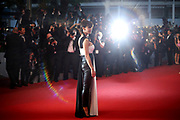 Sophie Marceau poses for photographers upon arrival for the screening of the film The Sea of Trees at the 68th international film festival, Cannes, southern France, Saturday, May 16, 2015. (Photo by Joel Ryan/Invision/AP)