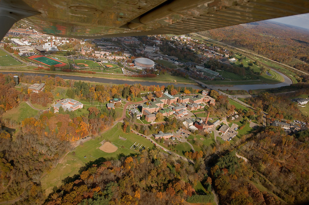Aerial view of The Ridges, and Ohio University. © Ohio University