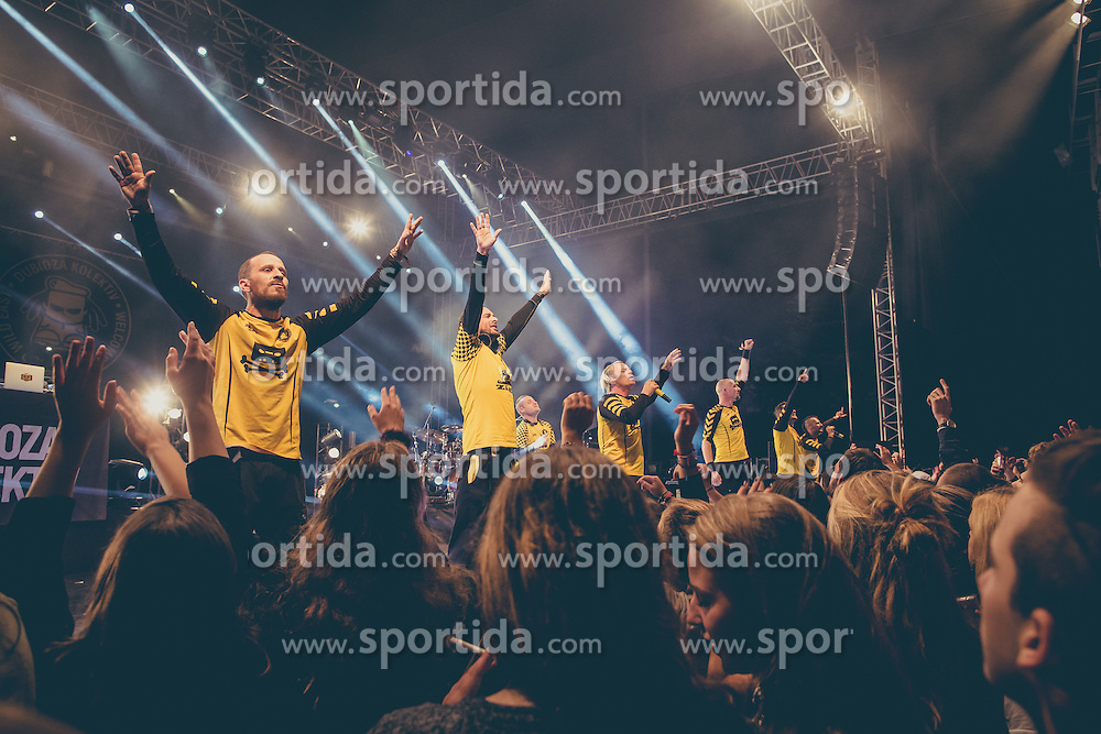 Dubioza Kolektiv performing at Kurzschluss Special event in Krizanke, Ljubljana on 26. September 2015, Sloveni. Photo by Grega Valancic / Sportida.com
