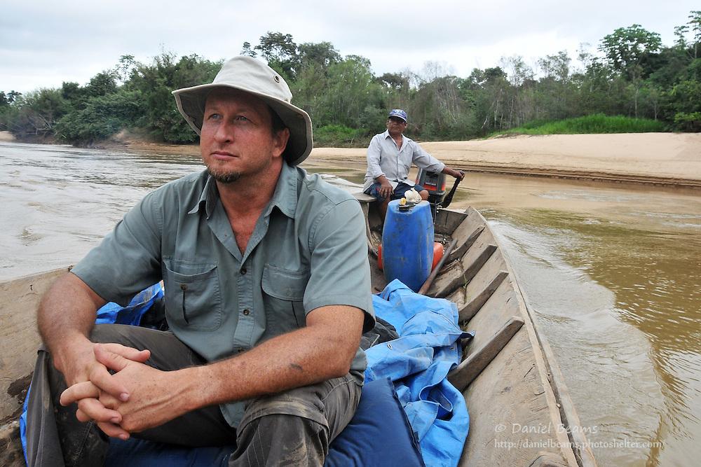 Canoe river trip near San Lorenzo de Moxos, Beni, Bolivia