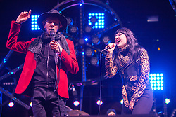 Beck and Alexis Krauss perform at The Treasure Island Music Festival - San Francisco, CA - 10/20/13