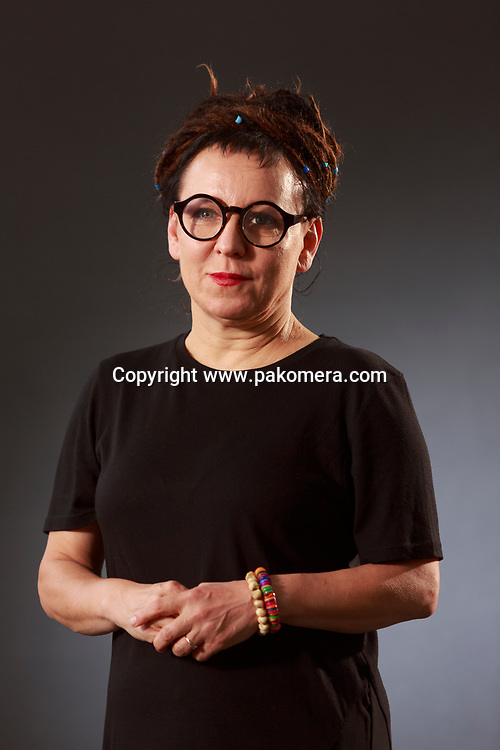 Edinburgh, Scotland 25th August. Day 14 Edinburgh International Book Festival. Pictured: Olga Tokarczuk critic, Polish writer. Pako Mera