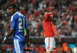 27.03.2012, Estadio da Luz, Lissabon, POR, UEFA CL, Viertelfinal-Hinspiel, Benfica Lissabon (POR) vs FC Chelsea (ENG), im Bild Benfica's Bruno Cesar, from Brazil, right, reacts // during the UEFA Champions League Quarter-final first leg Match between Benfica Lissabon (POR) and FC Chelsea (ENG) at Estadio da Luz, Lisbon, Portugal on 2012/03/27. EXPA Pictures © 2012, PhotoCredit: EXPA/ Newspix/ Cityfiles..***** ATTENTION - for AUT, SLO, CRO, SRB, SUI and SWE only *****